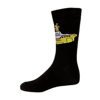 The Beatles Yellow Submarine Official Womens New Black Socks (UK Size 4-7)