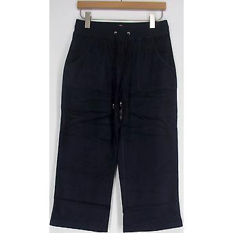 Sport Savvy Essentials Knit Terry Drawstring Navy Blue Pants A97761U