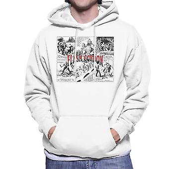 Flash Gordon Ming Attack Comic Montage Men's Hooded Sweatshirt