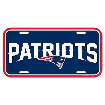 Wincraft NFL registreringsskylt-New England Patriots