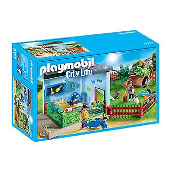 Playmobil 9277 City Life Small Animal Boarding With Hamster Wheel Playset