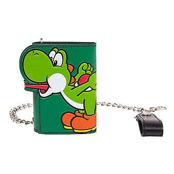 Super Mario portemonnee Yoshi tong nieuwe officiële Nintendo groen Tri vouwen keten