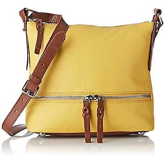 Hotter Lydia-geel-Tan dames schoudertassen (Citrus Yellow-Tan) 10x20x 23,5 cm (b x H L)