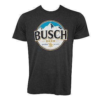 Busch Heather Black Round Logo Tee Shirt