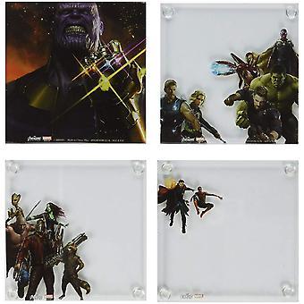 Avengers Infinity War Coaster sæt med 4
