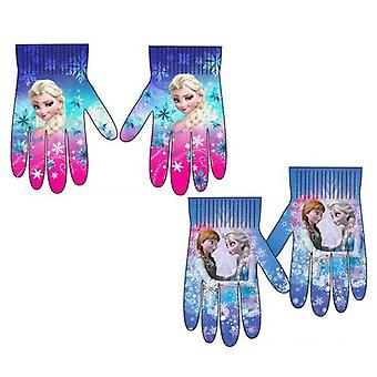 2-pakning frosset frost Elsa Anna votter fingermittens en størrelse