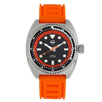 Shield Dreyer Men's Diver Strap Watch - Silver/Orange