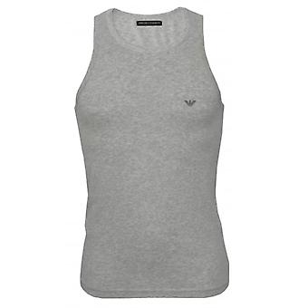 Emporio Armani Premium Cotton Stretch Tank Top Vest, Marl Grey