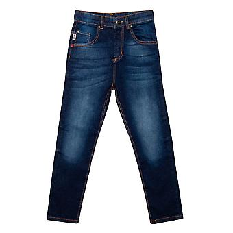 Junior Boys Franklin And Marshall Carrot Fit Jeans In Denim- Zip Fly- Carrot
