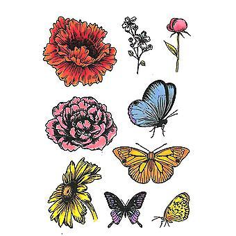 Crafter-apos;s Companion A6 Rubber Stamp - Fleurs et papillons