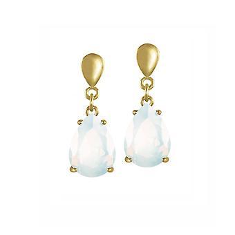 Eternal kokoelma viettely Teardrop valkoinen opaali Crystal kulta sävy pudota ruuvi takaisin Clip korva korut
