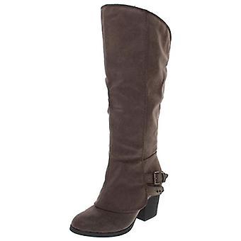 الأمريكية خرقة النساء اميله جولة العجل واسعة Toe الركبة عالية الأحذية