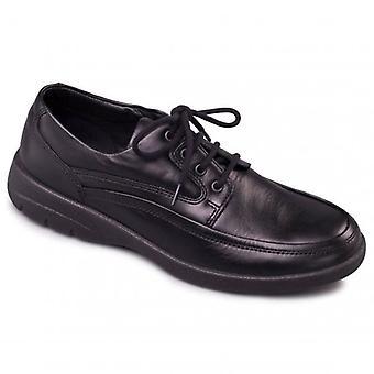 Padders Fire Mens Leder (f Fit) Komfort Schuhe schwarz