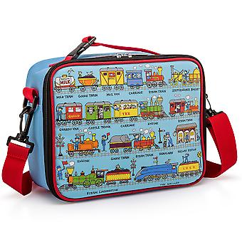 Tyrrell Katz Trains Design Kids Insulated Lunch Bag With Strap