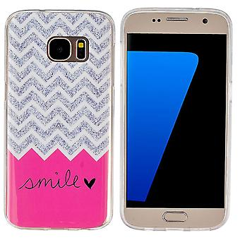 Galaxy S7 Motive Motive Smile Rose And Grey - Crazy Kase