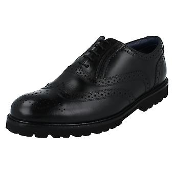 Mens Padders Wide Fit Lace Up Brogue Stamford
