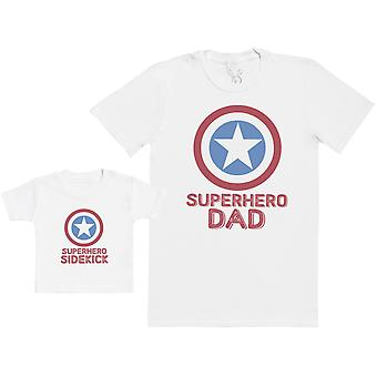 Superhero Sidekick - Baby Gift Set with Baby T-Shirt & Father's T-Shirt