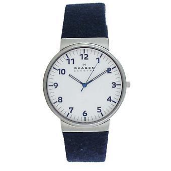 Reloj de hombre Skagen reloj de pulsera Ancher cuero azul SKW6098