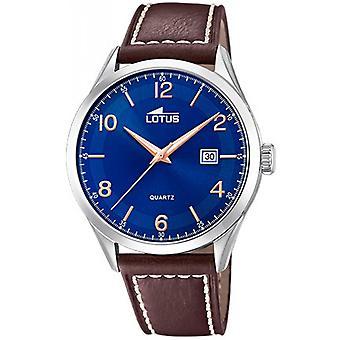 Lotus MINIMALISTISK 18634-3 titta - titta på datum armband läder ringa Blue Man