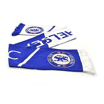 Chelsea FC Unisex Vertigo Jacquard neulottu huivi