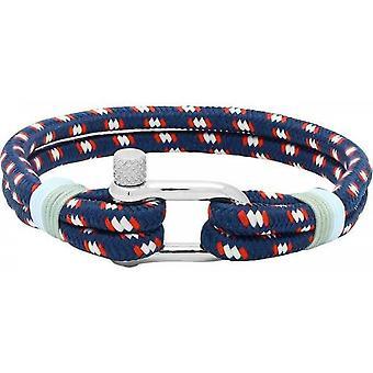 Ratsche B35268011M - Nylon Navy Winde Mann Himmelblau Stahl Armband Armband
