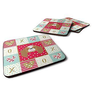 Set of 4 Blenheim Cavalier King Charles Spaniel Love Foam Coasters Set of 4