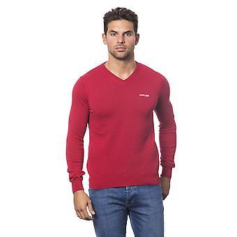 Punainen villapaita Roberto Cavalli mies