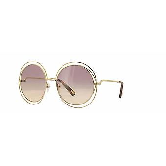 Chloe Carlina CE114SD 702 Gold-Havana/Rose Gradient Zonnebrillen