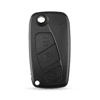 3 button car key shell for Fiat black