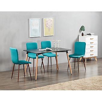 Marco Halo Dining Table Set With 4 Chairs