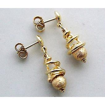 14 carat Christian gold earrings