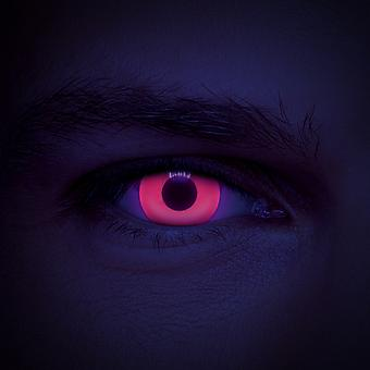 Red UV I-Glow Coloured Contact Lenses (Daily)