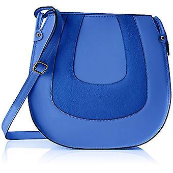 Chicca Bags 8607 Blue Women's shoulder bag (Blue) 30x30x11 cm (W x H x L)