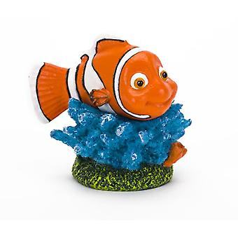 Sandimas Nemo con corallo, 6 Cms (pesce, decorazione, ornamenti)