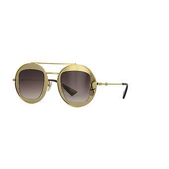 Gucci GG0105S 002 Kulta/ruskea kaltevuus aurinkolasit