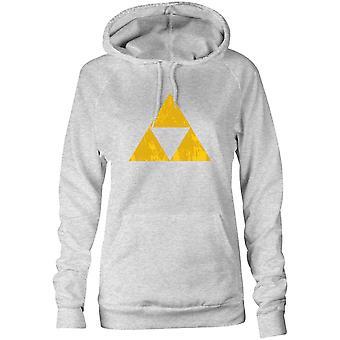 Moletom feminino Capuz Hoodie - Geometria triângulo dourado