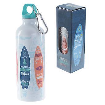Puckator Metal Water Bottle Surfboards