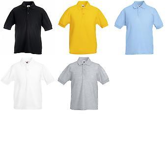 Vrucht van de Loom Childrens/Kids Unisex 65/35 Pique Polo Shirt (Pack van 2)
