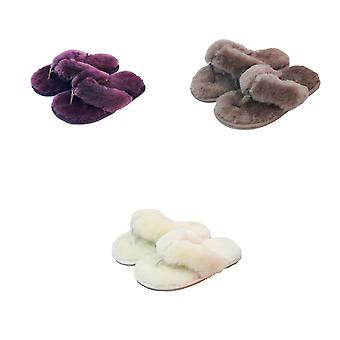 Eastern Counties Leather Womens/Ladies Sheepskin Flip Flops