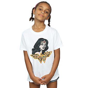 DC Comics Girls Wonder Woman Retro Collage T-Shirt