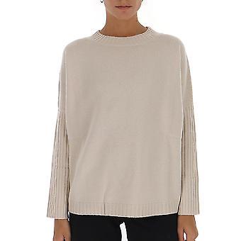 Max Mara 13660293000103002 Women's White Wool Sweater