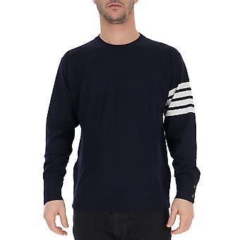 Thom Browne Mka002a00014415 Men's Blue Wool Sweater