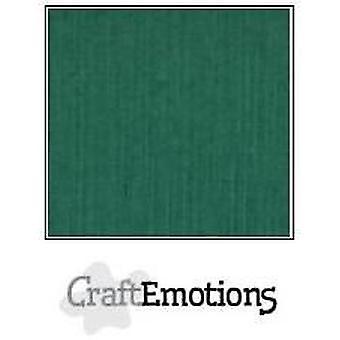 CraftEmotions linnen karton 10 Sh Kerstgroene LHC-36 A4 250gr