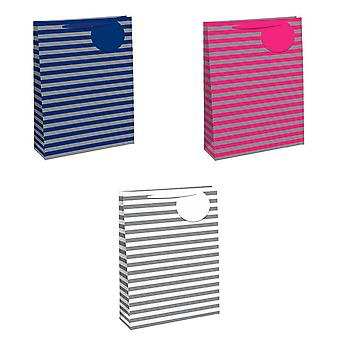 Eurowrap Striped Gift Bags (Pack of 6)