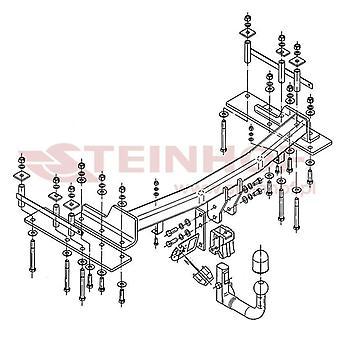 Steinhof automatico molestatore staccabile (verticale) per Ssangyong KYRON 2005-2014
