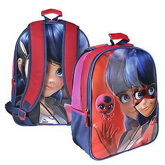Reversible 2I1 Backpack Miraculous Ladybug School Bag 41cm