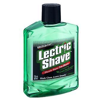 Williams lectric shave electric razor original pre-shave, 7 oz