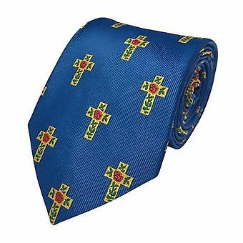 Masońskie 100% krawat z jedwabnej róży croix