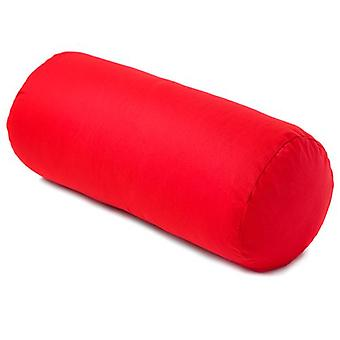 Matching Bedroom Sets Red 100% Cotton Bolster Cushion Hollowfibre Filled Roll Pillow Pad