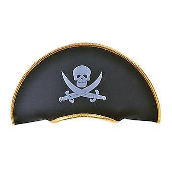 Pirate Hat. Fabric/Gold Edging
